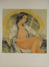 """""""Femme nue au fauteuil"""" Lithographie signée Pierre LETELLIER"""