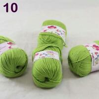 Sale lot 4 Skeins x50g Cashmere Silk Wool Children Hand Knitting Crochet Yarn 10