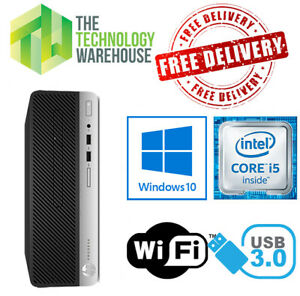 HP ProDesk 400 G4 PC - Intel i5-7500 CPU Up To 32GB Ram + SSD & Windows 10 Pro