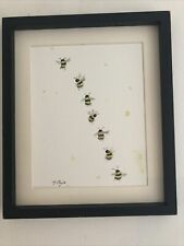 More details for bumble bee original watercolour painting, signed art not a print, gift