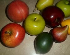 Lot de 10 fruits artificiels très réalistes (pommes,citrons,poire,pêche,figue)