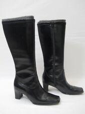 Womens BASS Black Stretch Mid Calf Vinyl Boots Size 5 M