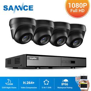 SANNCE 4CH 1080P Lite DVR Dome 3000TVL CCTV Camera Home Surveillance TVI System