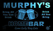 p1059-b Murphy's Personalized Home Bar Beer Family Name Neon Light Sign