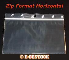 100 Pochettes Pochons Sachets plastique Zip Format Horizontal 120 x 80 mm