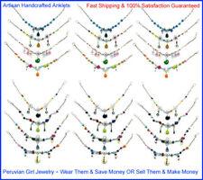 Wholesale Lot Peru Jewelry 20 Silver Peruvian Anklets