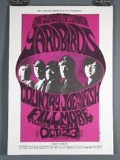 The Yardbirds, Country Joe, Vintage RARE Poster BG033