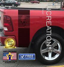 Skull Racing Rear Bed Stripes, Visual Illusion, Vinyl Graphics, Truck Decals Art