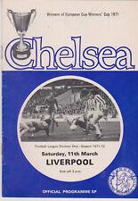 Programme / Programma Chelsea FC v Liverpool FC 11-03-1972