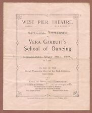 West Pier Theatre Brighton 1924  Vera Garbutt's School of Dancing  Ballet  JX198