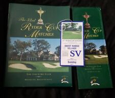 New listing 1999 Ryders Cup Program, Ticket And Map Payne Stewart, Tiger Woods rookie season