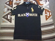 Polo Ralph Lauren Custom Fit Black Watch Crest Gold Big Pony Shirt Small S (L78