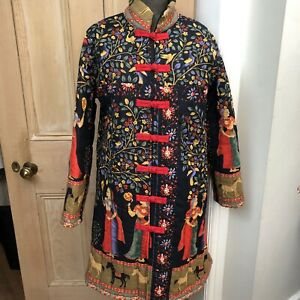 Chinese Womens Quilted Coat Size M