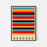 Bauhaus Exhibition Museum Retro Vintage Wall Art Poster Print. Mid Century Style