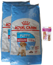 2x15kg Royal Canin Medium Puppy Junior Hundefutter + 80g Fleischsnacks