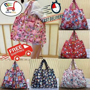 New Large Size HELLO KITTY Reusable Waterproof Travel Shopping Bag Handbag Women