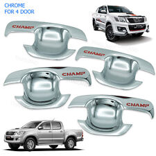 Door Handle Bowl Insert Cover Chrome FITT 4Pc To Toyota Hilux Vigo 2005 - 2014