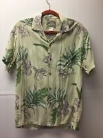 Paradise Found Hawaiian Aloha Shirt Men's size Medium M short sleeve 100% Rayon