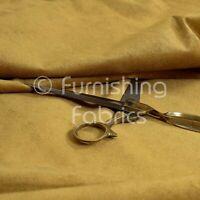 Designer High Quality New Soft Pile Chenille Velvet Upholstery Fabric Gold Beige