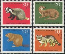 Germany 1968 Badger/Beaver/Otter/Wild Cat/Animals/Nature/Wildlife 4v set n29603