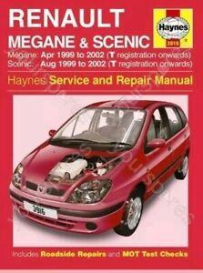 Haynes Renault Megane & Scenic Petrol & Diesel (Apr 99 - 02) - Car Manua