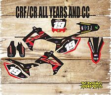 HONDA CR CRF 85 125 150 250 450 FULL GRAPHICS KIT-FULL STICKER KIT-DECAL- BLACK