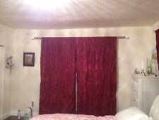 2 Designer Nicole Miller Chateau Garnet Red Window Energy Efficient Lined Panel