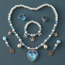 6Pcs Kids Girls Frozen Necklace Bracelet Set Gift