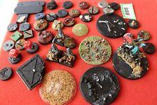 Juegos taller Warhammer/WH40K bases Trabajo Lote utilizado Scenic Repuestos bits Sigmar