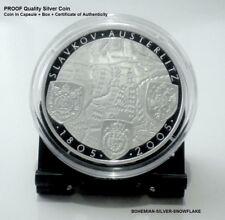 "200 Korun NAPOLEON BATTLEFIELD ""3 Emperors Batlle"" 2005 Czech PROOF Silver Coin"