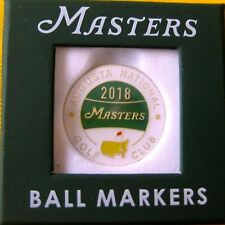 2018 Augusta NATIONAL MASTERS DATED  BALL MARKER