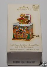 Hallmark Keepsake Pop! Goes the Gingerbread Man Magic Series Music & Motion RARE