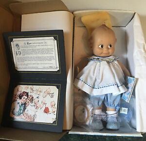 "Cameo Collectibles 12"" Kewpie Doll Classic Blue White Dress Original Box COA"
