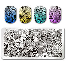 Lace Vine Net Nail Art Image Plate Stamping Template Rectangle DIY BORN PRETTY