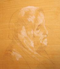 Old woman portrait pastel painting