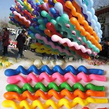 10pcs Mixed Spiral Latex Balloons Wedding Kids Birthday Party Decor Toy Gift