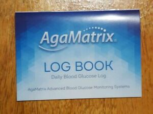 AgaMatrix Record Monitoring Diary to Store Blood Glucose Results Logbook