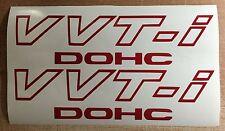 "Toyota V VT-i DOHC (2 PACK) 9"" RED Emblem Vinyl Sticker Decal VVTI TRD Supra"