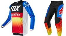 Fox Racing 2020 Youth 180 Fyce Pant and Jersey Combo Blue Red MX ATV F20YFYCE149