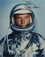 "ASTRONAUT JOHN GLENN HAND SIGNED AUTOGRAPHED COLOR PHOTO ""TO LOU"""