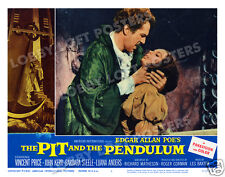 THE PIT AND THE PENDULUM LOBBY SCENE CARD # 5 POSTER 1961 VINCENT PRICE