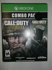 Call of Duty Combo Pack: WWII & Infinite Warfare (Microsoft Xbox One, 2017) NEW