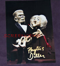 Phyllis Diller signed MAD MONSTER PARTY photo Rankin Bass Frankenstein TV rare