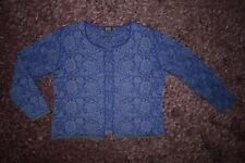 OLEANA cardigan floral silk & wool sz L