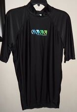 LIQUID BOARDWEAR Mens L Black Surfing Surf Fitted Boarding Top Shirt Sport