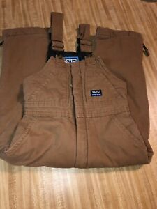 WALLS ToughWear Kids Grow System Brown Hunting Coverall Size: 6/7