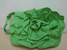 Heartstrings green flower design bag