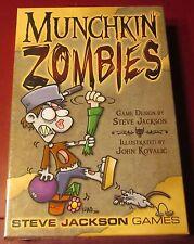 Munchkin Zombies Sjg1481 Core Set Humorous Horror Card Game Steve Jackson Games