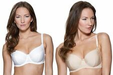 CHARNOS EVERYDAY SUPERFIT  FULL CUP BRA WHITE / BRULEE 34-36-38  BNWT