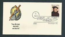 US Stamps FDC MARTIN LUTHER #2065 / Hand Painted G. Alexander Cachet